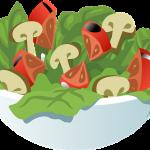 Zimní rychlý salát se semínky, kurkumou a zázvorem (bio, raw, vegan)